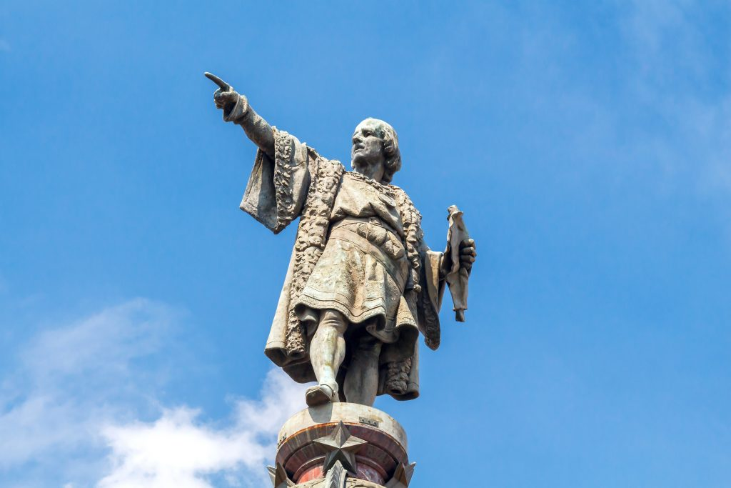 Christopher Columbus monument on the central promenade of Barcelona